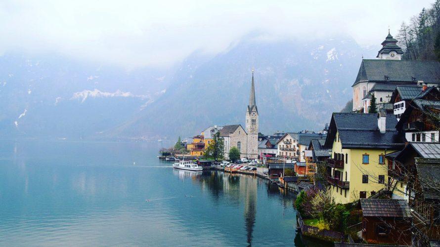 【DAY113・オーストリア】世界一湖畔の美しい街ハルシュタット しかし生憎の曇り