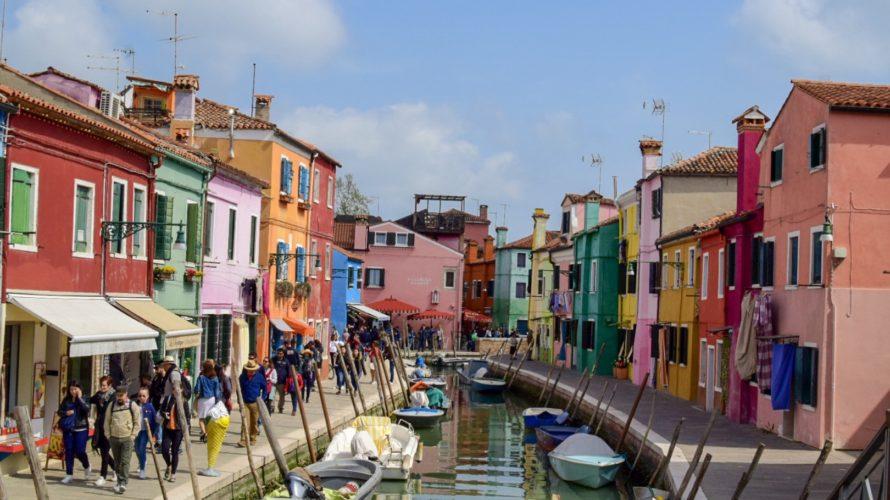 【DAY124・イタリア】ヴェネツィアの島巡り(ブラーノ島・ムラーノ島)
