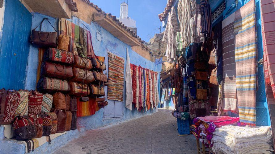 【DAY270・モロッコ】スペインからモロッコ・タンジェへ✈️そして、青の街「シャウエン」まで移動🚕